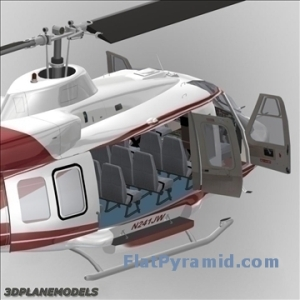 Bell 214 ST Transport Helicopter 3D Model