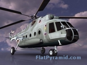MI-8 Transport Helicopter Hip 3d model