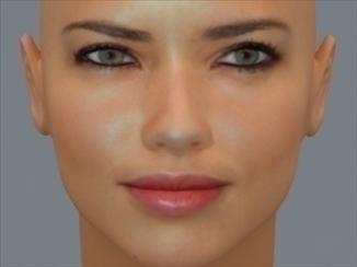 3D Model Face of Brazilian SuperModel Adrianna Lima