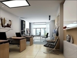 Office Interior Model, Highly Realistic in 3D